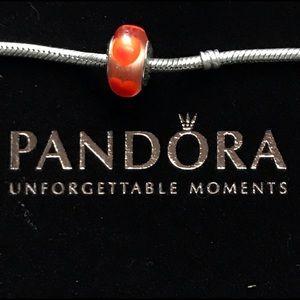 Pandora Red Heart Murano Charm